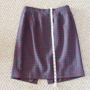 Vintage wool checkered skirt